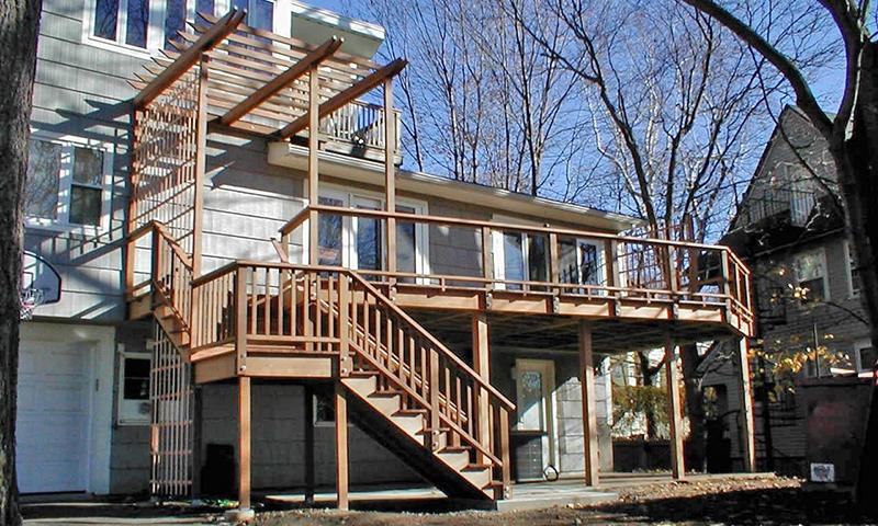 Custom Top Level Deck - Brookline, MA
